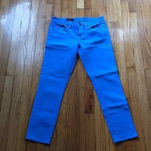 Periwinkle J.Crew Toothpick ankle jeans, EUC